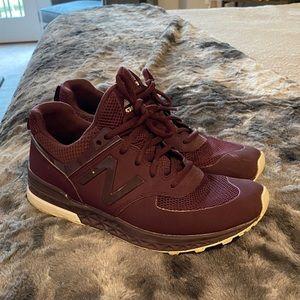 New balance sneakers Burgundy-maroon